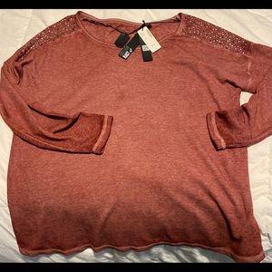 Woman's NWT beaded long sleeve t-shirt